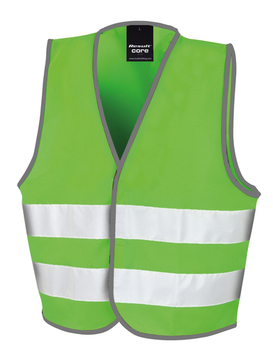 Core Junior Safety Vest In Lime