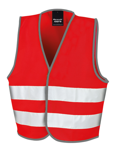 Core Junior Safety Vest In Red