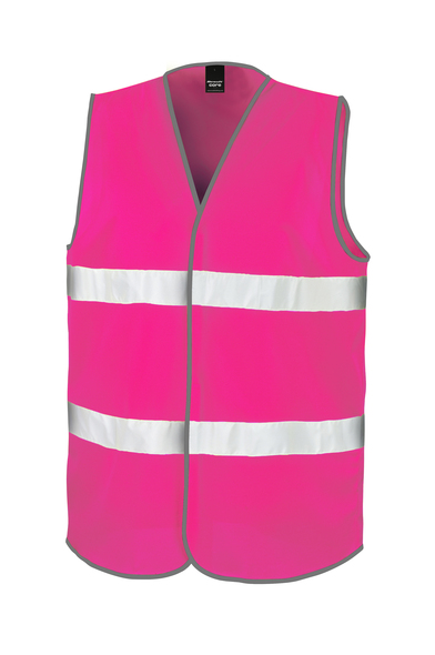 Core Adult Motorist Safety Vest In Fluorescent Pink