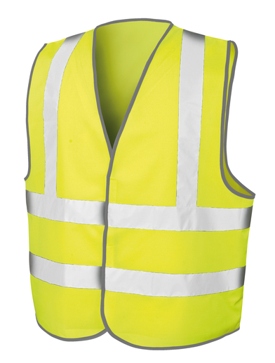 Core Safety Motorway Vest In Fluorescent Yellow