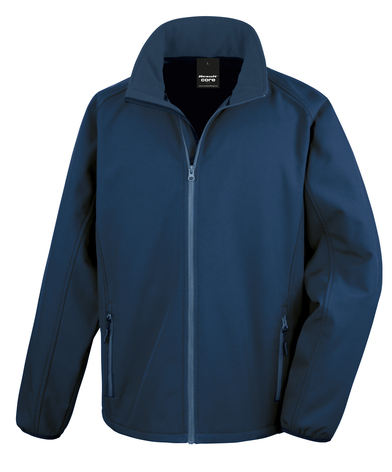 Core Printable Softshell Jacket In Navy/Navy