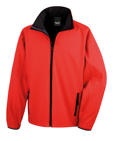 Core Printable Softshell Jacket In Red/Black
