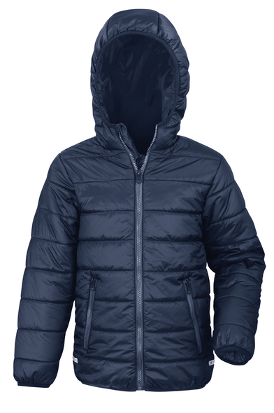 Core Junior Soft Padded Jacket In Navy