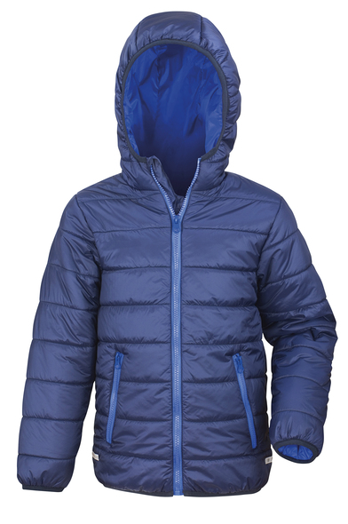 Core Junior Soft Padded Jacket In Navy/Royal