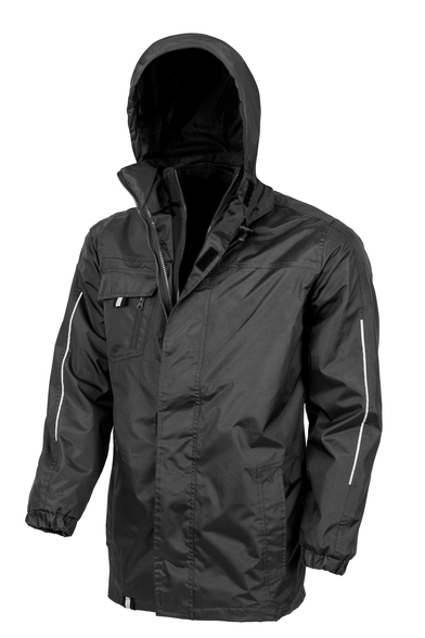 3-in1 CORE Transit Jacket With Printable Softshell Inner In Black