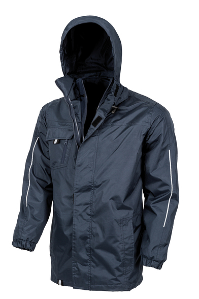 3-in1 CORE Transit Jacket With Printable Softshell Inner In Navy