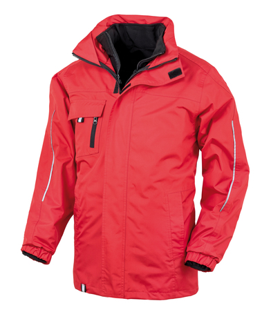3-in1 CORE Transit Jacket With Printable Softshell Inner In Red