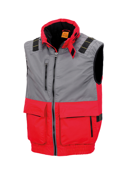 Result Workguard - Work-Guard X-over Microfleece Lined Gilet