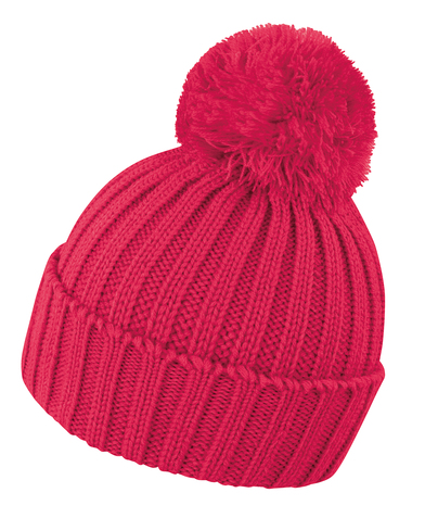 HDI Quest Knitted Hat In Raspberry
