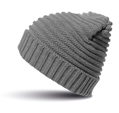 Braided Hat In Cool Grey