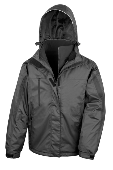 3-in-1 Journey Jacket With Softshell Inner In Black/Black