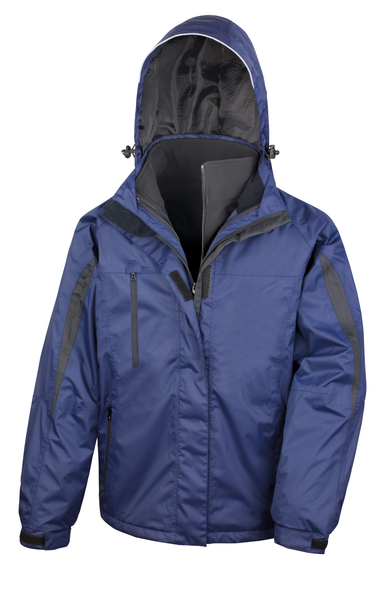 3-in-1 Journey Jacket With Softshell Inner In Navy/Black