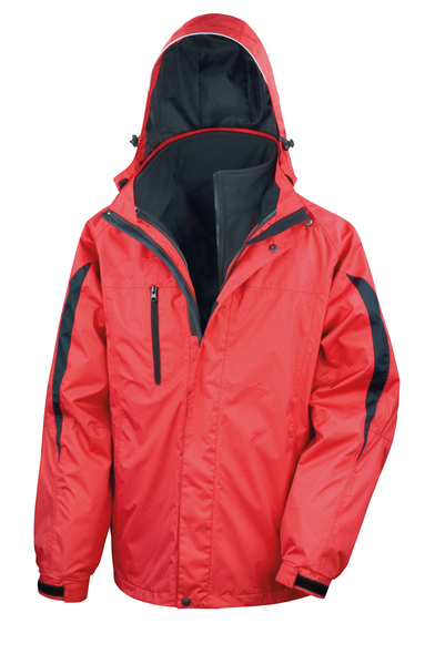 3-in-1 Journey Jacket With Softshell Inner In Red/Black