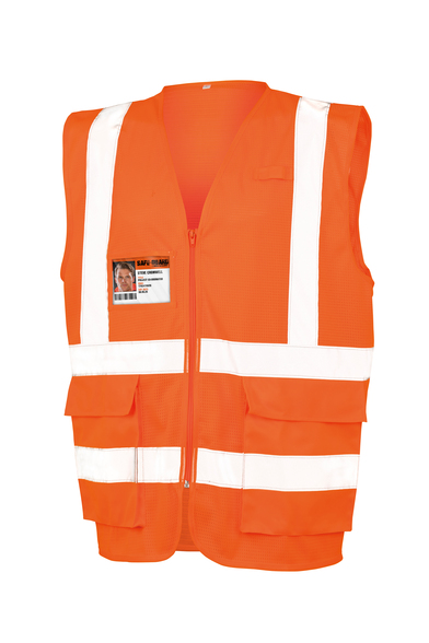Executive Cool Mesh Safety Vest In Fluorescent Orange
