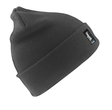 Heavyweight Thinsulate Hat In Charcoal Grey