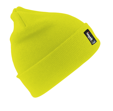 Heavyweight Thinsulate Hat In Fluorescent Yellow