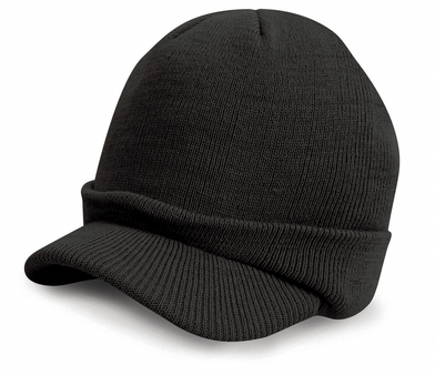 Esco Army Knitted Hat In Black