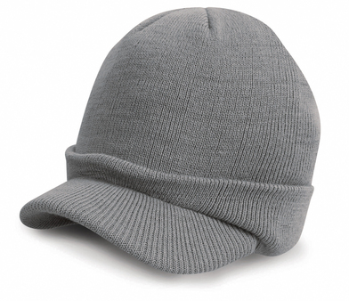 Esco Army Knitted Hat In Cool Grey