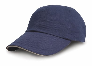 Heavy Cotton Drill Pro-style With Sandwich Peak In Navy/Putty