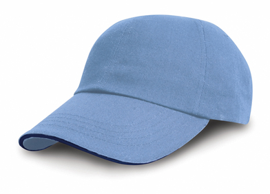 Heavy Cotton Drill Pro-style With Sandwich Peak In Sky/Navy