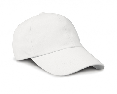 Junior Low-profile Heavy Brushed Cotton Cap In White