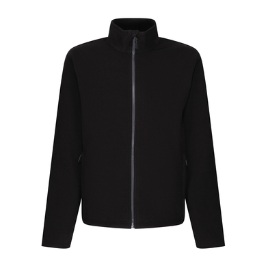 Honestly Made Recycled Full Zip Microfleece In Black