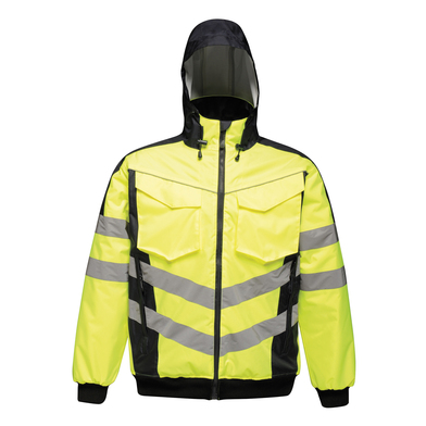 High-vis Pro Bomber Jacket In Yellow/Navy