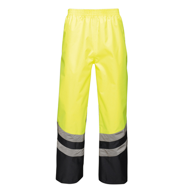 Hi-vis Pro Overtrousers In Yellow/ Navy