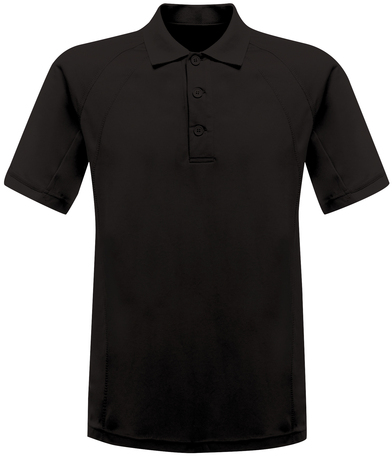 Coolweave Polo In Black