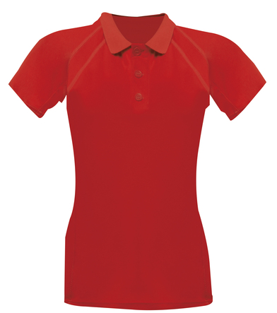 Coolweave Polo In Classic Red