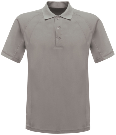 Coolweave Polo In Silver Grey