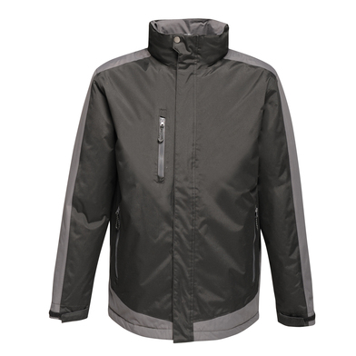 Contrast Insulated Jacket In Black/Seal