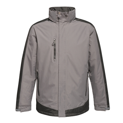 Contrast Insulated Jacket In Seal/Black
