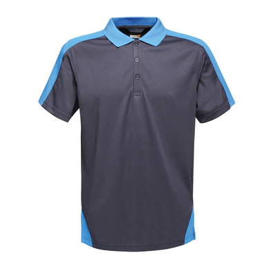 Contrast Wicking Polo In Navy/New Royal