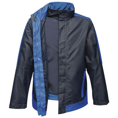 Contrast 3-in-1 Jacket In Navy/New Royal