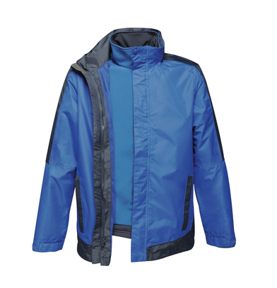 Contrast 3-in-1 Jacket In New Royal/Navy
