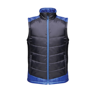 Contrast Insulated Bodywarmer In Navy/New Royal