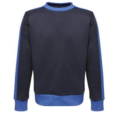 Contrast Crew Sweat In Navy/New Royal