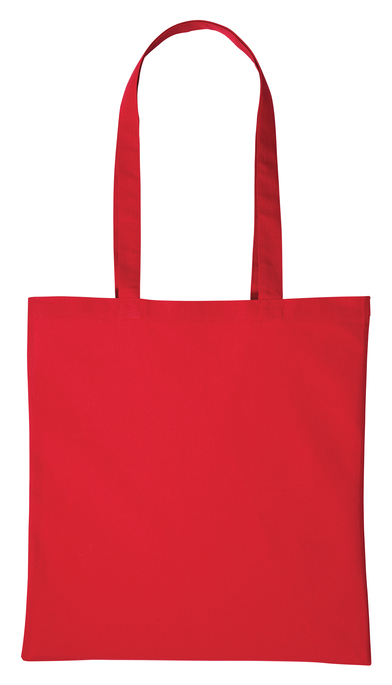 Cotton Shopper Long Handle In Hot Red