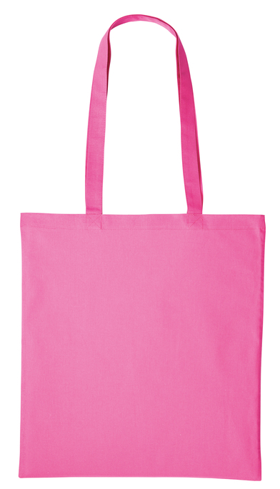 Cotton Shopper Long Handle In Mid Pink