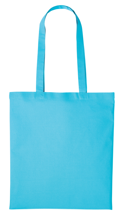 Cotton Shopper Long Handle In Turquoise