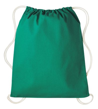 Gymsac With Cords In Bottle Green/Natural