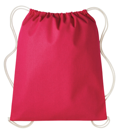 Gymsac With Cords In Hot Pink/Natural