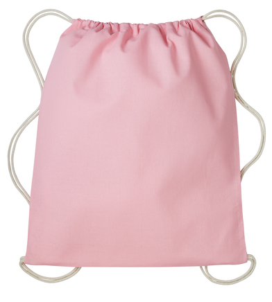 Gymsac With Cords In Light Pink/Natural