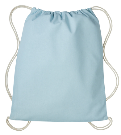 Gymsac With Cords In Pastel Blue/Natural
