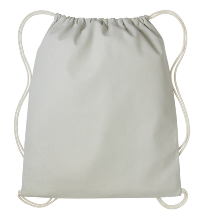 Gymsac With Cords In Pastel Grey/Natural