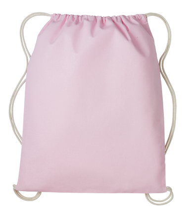 Gymsac With Cords In Pastel Pink/Natural