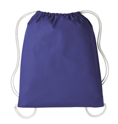 Gymsac With Cords In Purple/Natural