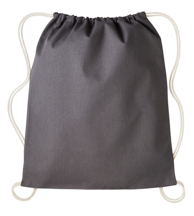 Gymsac With Cords In Slate Light Grey/Natural