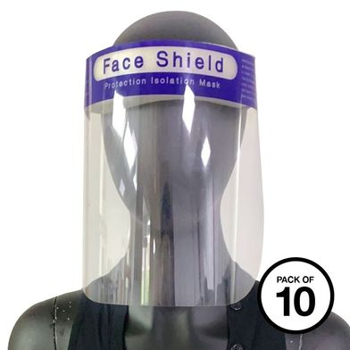 Face Splash Shield (Pack Of 10) In Clear
